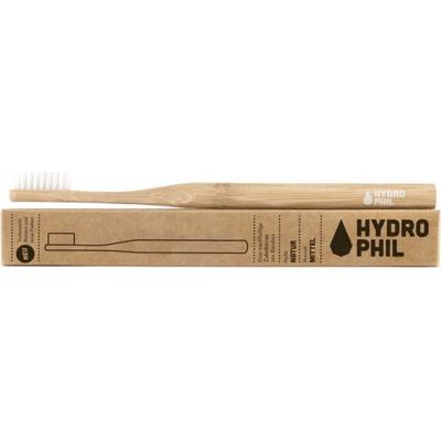 Naturalna bambusowa szczoteczka do zębów - włosie średnie - naturalna Hydrophil