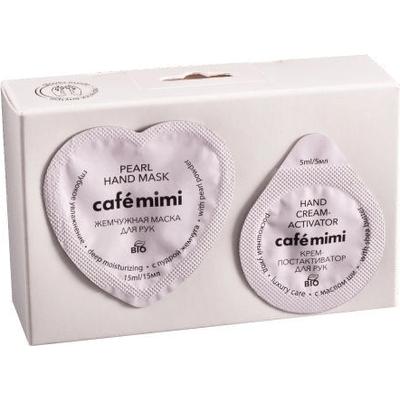 Dwuetapowy zestaw do pielęgnacji rąk - Nawilżający Cafe Mimi