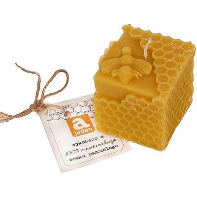 Świeca z wosku pszczelego mała - Pszczółka Ajeden