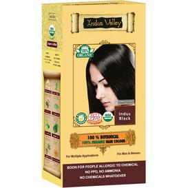 Indus Valley Ziołowa farba do włosów siwych z henną - Indyjska czerń