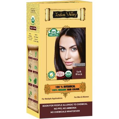 Ziołowa farba do włosów z henną - Miękka czerń Indus Valley
