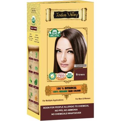 Ziołowa farba do włosów z henną - Brąz Indus Valley