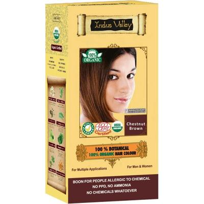 Ziołowa farba do włosów z henną - Kasztanowy brąz Indus Valley