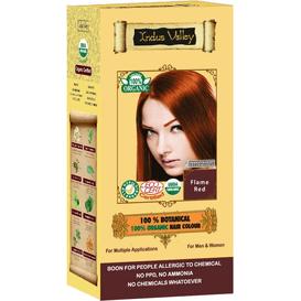 Indus Valley Ziołowa farba do włosów z henną - Płomienny rudy