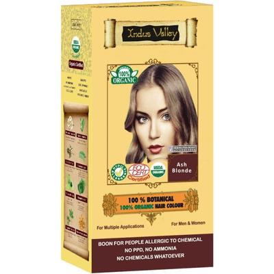 Ziołowa farba do włosów z henną - Popielaty blond Indus Valley