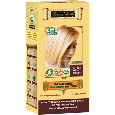 Ziołowa farba do włosów z henną - Złocisty blond Indus Valley