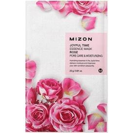 Mizon Joyful Time - Zwężająca pory maska w płacie - Rose 23 g