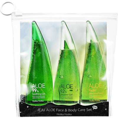 Aloesowy zestaw do twarzy i ciała - Jeju Aloe Face and Body Care Set Holika Holika
