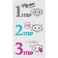 Zestaw plasterków do oczyszczania porów na nosie - Pig Clear Blackhead 3-Step Kit (No water)