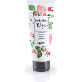 Anwen Odżywka do włosów o wysokiej porowatości - Emolientowa Róża, 200 ml