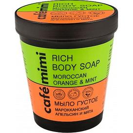 Cafe Mimi Mydło do ciała - Marokańska pomarańcza i mięta, 220 ml