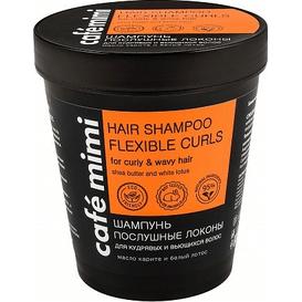 Cafe Mimi Szampon do włosów kręconych i falowanych - Posłuszne loki, 220 ml