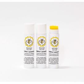 Miodowa Mydlarnia Balsam do ust z naturalnymi filtrami UV - Malina i pszenica