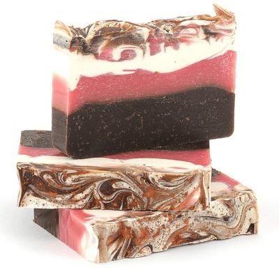 Mydło naturalne - Kakaowe z miodem malinowym i olejem ryżowym Miodowa Mydlarnia