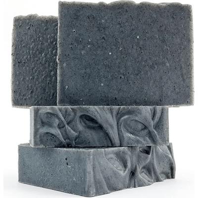 Mydło naturalne - Węglowe z miodem, masłem shea, eukaliptusem i lawendą Miodowa Mydlarnia