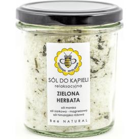 Miodowa Mydlarnia Sól do kąpieli - Zielona herbata, 180 g