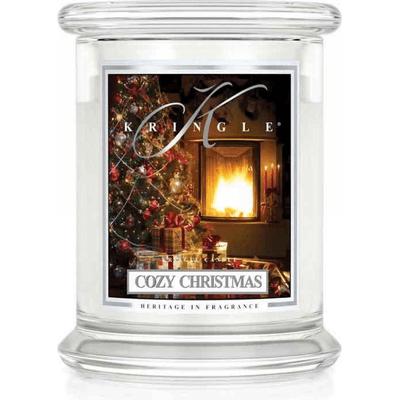 Świeca w słoiku średnia z dwoma knotami - Cozy Christmas Kringle Candle