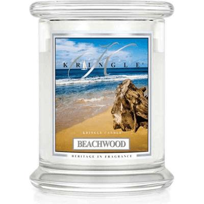 Świeca w słoiku średnia z dwoma knotami - Beachwood Kringle Candle