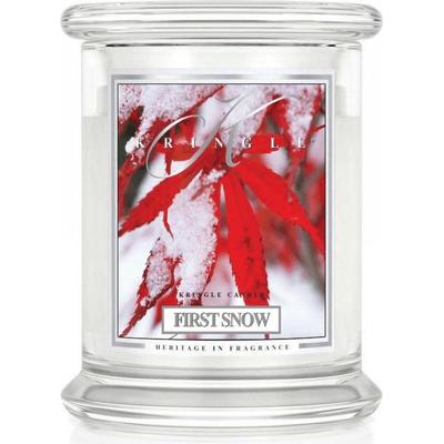 Świeca w słoiku średnia z dwoma knotami - First Snow Kringle Candle