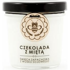 Miodowa Mydlarnia Świeca sojowa - Czekolada z miętą, 120 ml