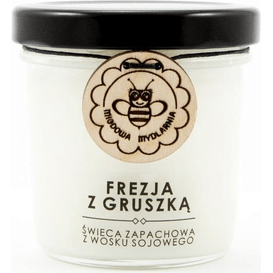 Miodowa Mydlarnia Świeca sojowa - Frezja gruszką, 120 ml