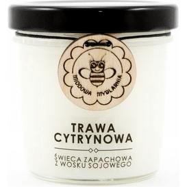 Miodowa Mydlarnia Świeca sojowa - Trawa cytrynowa, 120 ml