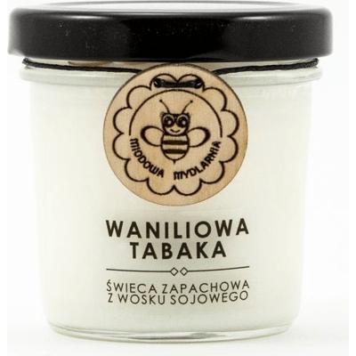 Świeca sojowa - Waniliowa tabaka Miodowa Mydlarnia
