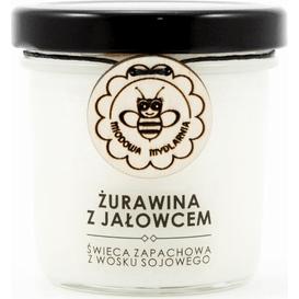 Miodowa Mydlarnia Świeca sojowa - Żurawina z jałowcem, 120 ml